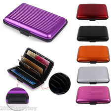 1Pc Unisex Purple Aluminum Waterproof Metal Pocket ID Credit Card Wallet Holder
