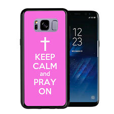 Pink Keep Calm and Pray On For Samsung Galaxy S8 Plus + 2017 Case Cover by Atomi