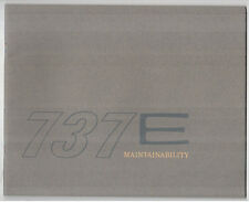 BOEING 737 E MAINTAINABILITY MANUFACTURERS SALES BROCHURE 1965