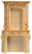 1 /12 scale Dolls House Furniture    Stone type Fireplace  DHD4152IV  Ivory