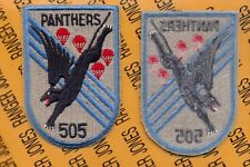 "US Army 505th Airborne Infantry Regiment 82nd Panthers 5"" pocket patch"