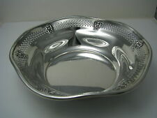A SOLID STERLING SILVER BOWL DISH PLATE by Baldwin & Miller Inc.Newark NJ c1920s