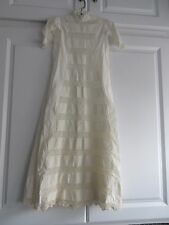 Antique Baby Christening Baptismal Gown Tucks & Crochet Embroidery Trim AMAZING!