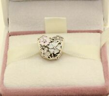 "AUTHENTIC PANDORA""Poetic Blooms,Heart Mixed Enamels & Clear CZ, 791825ENMX  #255"