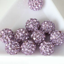 Lots 50Pc Czech Crystal Rhinestones Pave Clay Disco Ball Round Spacer Beads 10MM
