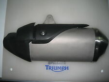 TRIUMPH SPEED TRIPLE /R LEFT HAND EXHAUST BLACK SHIELD P/N T2207351