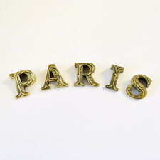 Shabby Cottage Chic PARIS Floral Letters Home Wall Decor French Vintage