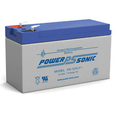 Power-Sonic 12 Volt 7ah Rechargeable Battery with F1 (.187) Terminals