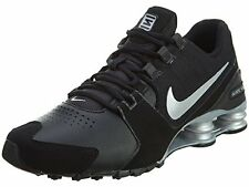 NIKE SHOX AVE LEATHER  SZ 11  833584 001   BLACK RETRO RUNNING SHOES