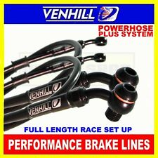 TRIUMPH 1200 TROPHY 1997-98 VENHILL stainless steel braided brake line kit BLK