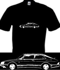 saab 900 turbo inspired car t shirt retro