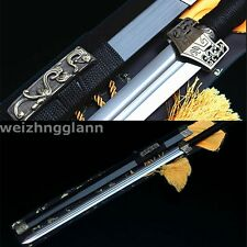 42'1060 CARBON STEEL SHARP BLACK WOOD FULL TANG HAND MADE CHINESE HAN 汉剑 SWORD