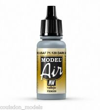 Vallejo Model Air Dark Ghost Grey 71.120 - 17ml Acrylic Airbrush Ready Paint