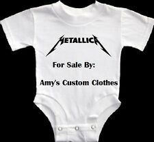 NEW METALLICA BABY ONESIE ROCK HEAVY METAL SHIRT PICK A SIZE