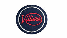 CLASSIC VILLIERS MOTORCYCLE  EMBROIDERED PATCH-2 STROKE,JAMES,FRANCIS BARNETT