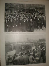 Printed photos Dublin Cattle show parade of prize winners 1899