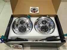 "LANDROVER Defender 7"" LED UPGRADE 2 x Fari e approvati td5 90 110 Chrome"