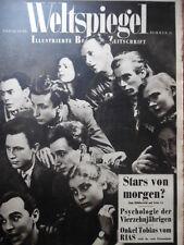 """WELTSPIEGEL 21 - 1950 Rom Venedig Hamburgs """"Seute Deern"""" Radio-Berlin: RIAS AFN"""