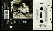 Madonna Like A Virgin USA Cassette Tape RCA Club