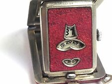 Rare Unique Abercrombie & Fitch Art Deco Jump Hour  FHF Swiss Movement  Watch