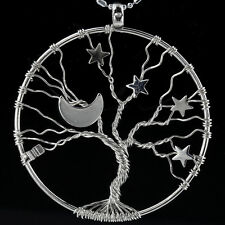 "Tree of Life Moon Stars ""I Love You to the Moon and Back"" Pendant Fit Necklace"