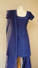 Blue Lace 12-14 Bollywood Punjabi indiano Salwar Kameez Sari Lengha ss13612