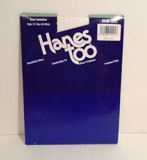Vintage 1994 HANES TOO Sheer Pantyhose White Size C D  Style 117