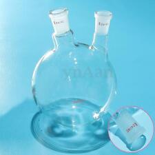 2000ml 2 Cols 24/40 Ballon Verre Flacon Glassware Chimie Distillation Apparatus