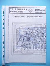 Service Schema für Telefunken digitale automatic 300 ,ORIGINAL