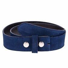 """Snap on Belt strap Italian leather belts online Navy blue suede Capo Pelle 36"""""""