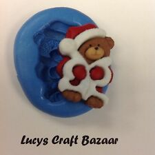 Silicone Mould Xmas Santa Teddy Bear Sugarcraft Cake Decorating Cupcake Topper