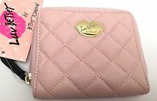 NWT LUV BETSEY JOHNSON Women's Mini Small Wallet Blush Zip Around Clutch Purse