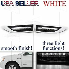 FOR DODGE ONLY! FENDER GRILLE SIDE MARKER MOD SIGNAL+PARKING+PUDDLE LIGHTS WHITE