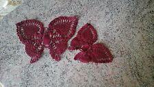 Coppia di 2 farfalle farfalla farfallina centrino uncinetto bomboniera lotto