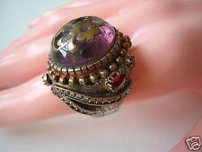 Opulenter Ring aus geprüftem Silber mit Farbsteinen,Email Massiv 16,4 g/RG 54