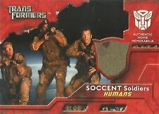 """Transformers Película - """"SOCCENT"""" Pantalones de uniforme de soldado Disfraz de recuerdos tarjeta"""