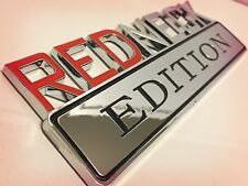 REDNECK EDITION JEEP car TRUCK EMBLEM logo DECAL sign CHROME RED NECK *new 1.