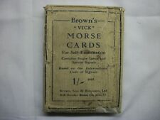 WW1 WW2 BOXED SET BROWNS VICK MORSE CODE CARDS FOR SELF EXAMINATION