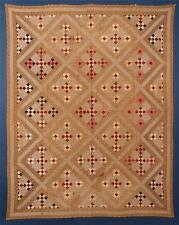 """Antique, 19th Century """"Double 9-Patch Quilt, Unwashed Condition, Small scale."""