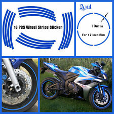 Reflective Motorcycle Rim Stripe Tape Wheel Decal Strip Sticker Car Bike BLUE