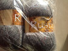 JAMES C BRETT RUSTIC ARAN GREY TWEED MIXED FLECK KNITTING WOOL 400G DAT28 YARN