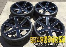 "22"" K9 6198 BLACK MILL 22X9.5+30 WHEELS TIRES 6X135 EXPEDITION NAVIGATOR LINCOLN"