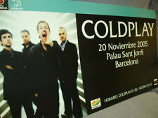 COLDPLAY CARDBOARD PROMO POSTER BARCELONA CONCERT 2005 NOT AVAILABLE IN STORES!