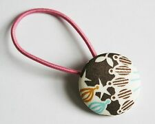 Brown and Blue - Liberty of London - ponytail holder - NEW