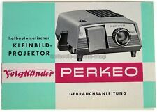 VOIGTLÄNDER Bedienungsanleitung PERKEO Projektor User Manual Anleitung (X2432