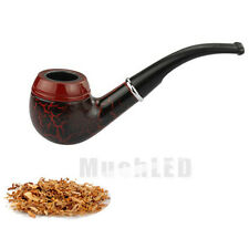 New Mens' Wooden Wood Smoking Pipe Tobacco Cigarettes Cigar Pipes Dark Red Gift