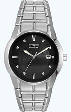 Citizen Eco-Drive Men's BM6670-56E Black Dial Stainless Steel Bracelet Watch