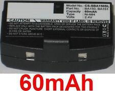 Batterie 60mAh type BA150 BA151 Pour Sennheiser SET 2500