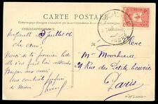 Turkey Ottoman Empire in Levant Palestine 20pa on PPC NASARETH 1906 cancel