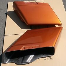 """Amber Whisky 2014-2015 Harley HD 4.5"""" Stretched Extended Saddlebags Bottoms only"""